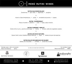 Menú Rutini Wines del 12 al 16-01-2016