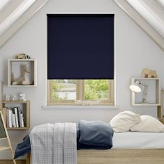 Sevilla Dark Blue Blackout Roller Blind