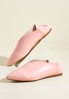 I Got You Babouche Vegan Shoe in Petal. These vegan faux-leather flats have got your back! #pink #modcloth