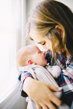 mama and baby - newborn photography