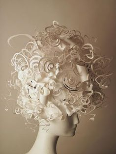 Marie Antoinette-style paper wigs