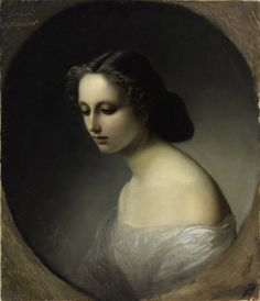 Portrait of Sophie de Keyshenn by Carl Timoleon Neff (1804-1876/7)          oil on canvas, 1854