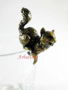 Bronze Brass Figurine Statuette Russian Five Cats Sitting ON Glass 173 | eBay