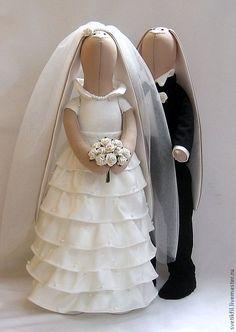 Свадебные зайки.. - подарок молодоженам,свадьба,свадьба 2012…