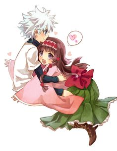 Alluka Zoldyck - Hunter x Hunter Killua, Alluka Zoldyck, Hunter X Hunter, Hunter Page, Anime Kawaii, Anime Chibi, Manga Anime, Fairy Tail Games, Zoldyck Family