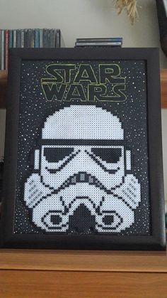 Stromtrooper - hama beads Star Wars Perler Bead Designs, Perler Bead Art, Perler Beads, Ornament Crafts, Bead Crafts, Manualidades Star Wars, Perle Hama Star Wars, Pixel Art, Star Wars Video Games