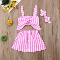 Newborn Toddler Girl Fashion Rainbow Sets Coat Long Sleeve Coat + Vest + Shorts Outfit Clothes Summer - Fashion Trends for Girls and Teens Girls Summer Outfits, Pink Outfits, Short Outfits, Baby Outfits, Summer Girls, Emo Outfits, Summer Tops, Baby Girl Fashion, Fashion Kids