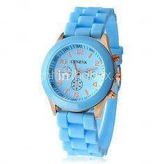 EUR € 5.51 - vrouwen horloge mode siliconen band, Gratis Verzending voor alle Gadgets!