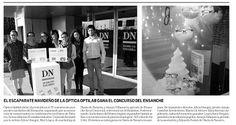 """Entrega de premios Concurso escaparates de Navidad """"El Centro de tus Sueños"""", en Diario de Navarra. Diciembre 2012. Ensanche Área Comercial Pamplona"""