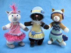 Alan Dart Knitting Pattern: Feline Flappers