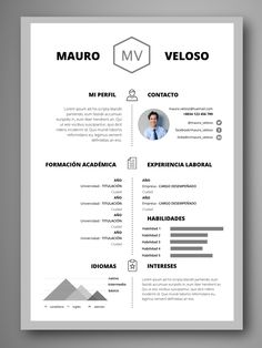 Simple CV/Resume Template Free Download … | Things t…