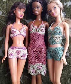 Barbie doll crochet pattern lace summer wardrobe