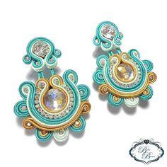 Soutache Earrings, Bangles, Bracelets, Shibori, Turquoise Bracelet, Instagram, Diy, Jewelry, Stud Earrings