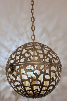japanese brass globe lantern 1stdibs Karakusa globe