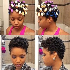 Are perm rods good for natural hair? How do I set my perm rod to natural hair? What can I use instead of perm rods? How long should I leave my perm rods in? Pelo Natural, Natural Curls, Natural Hair Care, Natural Hair Styles, Straw Set Natural Hair, Natural Hair Perm Rods, Roller Set Natural Hair, Natural Hair Tutorials, Style Afro