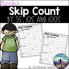 Teaching students to skip count by and up to 1000 is no easy feat! Make life a little e Skip Counting By 5, Skip Counting Activities, Counting For Kids, Math Activities, Math Games, Second Grade Math, Grade 2, Math Patterns, Primary Maths