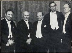 Great conductors: Bruno Walter, Arturo Toscanini, Erich Kleiber, Otto Klemperer, Wilhelm Furtwangler