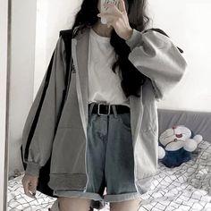 Teen Fashion Outfits, Retro Outfits, Mode Outfits, Cute Casual Outfits, Girl Outfits, Fashion Men, Fashion Fall, Fashion Edgy, Korean Outfits Cute