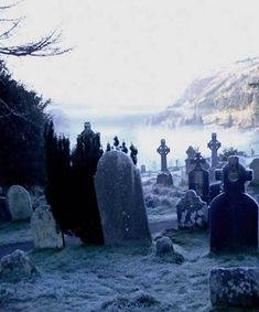 ImageFind images and videos about black and white, cemetery and graveyard on We Heart It - the app to get lost in what you love. Cemetery Headstones, Old Cemeteries, Cemetery Art, Graveyards, Statues, Spooky Places, Catacombs, Abandoned, Creepy
