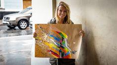 Lena Bam with my art