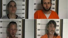 From left to right: John Thomas Shehee, Harce Wade Allen, Eric S. Click and David Wayne Frazier.
