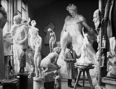 Carl Eldh (1873–1954) vintage photo in his studio #workspace #arthistory