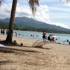 View of El Yunque from Luquillo Beach.