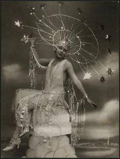 celestial portrait with head-dress 1920's