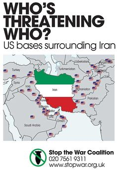 Us Military Bases In the Middle East Map who S Threatening who Map Of Us Military Bases Surrounding Iran Iran Travel, Travel Maps, Us Military Bases, Military Weapons, Middle East Map, Map Diagram, Geography Activities, Electoral College Votes, Global Conflict