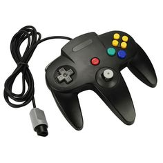 N64 Black Long Handle Game Controller Control Remote Pad Joystick Fit for Nintendo 64 System