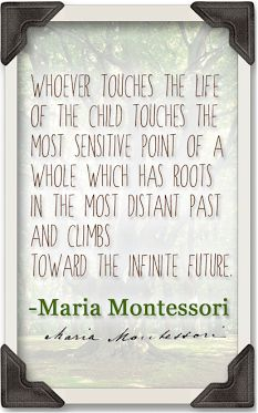 Dr. Montessori spoke passionately about developing the whole child with cosmic education. Montessori students grow up feeling connected with the world around them, understanding their place both through our ancestry and the evolution of the planet, and our hopes for the future for nature and all living beings.