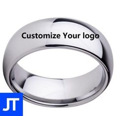 Carbide Tungsten Personalized Rings - Mens Ring - Jewellerytribe.com #MensRing #TungstenCarbide #CarbideTungsten Tungsten Mens Rings, Tungsten Carbide, Ring Bracelet, Bracelets, Personalized Rings, Custom Engraving, Timeless Fashion, Anniversary Gifts, Black Silver