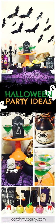 Countdown to Halloween with another awesome party! The cake pops are so much fun!! See more party ideas and share yours at CatchMyParty.com