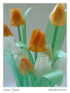 tulipani di plastica pet