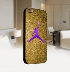 Nike Gold Air Jordan Logo CUSTOM - For IPhone 4 or 4S Black Case Cover