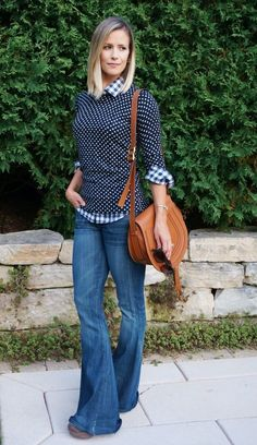 fall style | flare denim | mixing patterns | casual style | how to wear flare denim | chloe handbag | j crew factory | my kind of sweet
