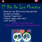 Celebrate Day of the Dead with two lessons for any level Spanish class. Venn Diagram Halloween vs. DDLM, video clip, ppt with pictures, craft activity. $3 on tpt