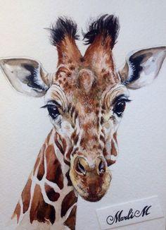 Illustrator MarliM | watercolor giraffe
