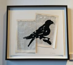 1:54 CONTEMPORARY AFRICAN Art Fair 5/2015 - William Kentridge, Universal Archive (Ref. 29), 2012. Linocut printed on Shorter Oxford English Dictionary pages.