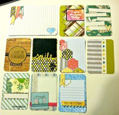 Handmade PL Project Life journaling card set by CodisCustomCards