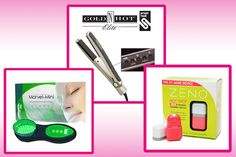 Jul 2010: Best of Beauty Buzz - included Zeno Hot Spot blemish zapper, Gold 'N Hot ceramic straightening iron and a Marvel Mini facial therapy system.