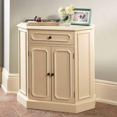 Elegant Antique White Storage Cabinet