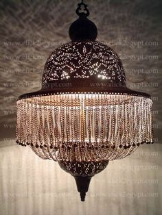 Antique Style Handmade Dome Lamp Shade/Pendant Chandelier: hold up to 3 X 100 watt bulbs