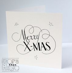 Merry X-mas - Kerstkaarten Christmas Card Crafts, Xmas Cards, Christmas Projects, Diy Cards, Christmas Time, Christmas And New Year, Bullet Journal Christmas, Karten Diy, Birthday Crafts
