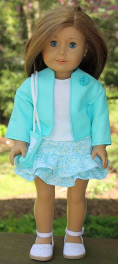 American Girl Doll ClothesBlue Jacket by buttonandbowboutique