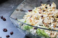 Imprezowa sałatka z serem feta i żurawiną ⋆ M&M COOKING Feta, Coleslaw, Coconut Flakes, Potato Salad, Cabbage, Grilling, Grains, Salads, Spices
