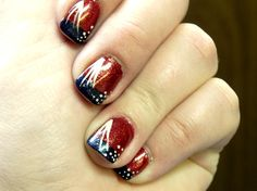Red, White, and Blue nails for yay, America holidays like 4th of July or Veteran's Day.