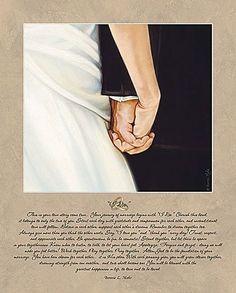 NEW UNFRAMED I DO BRIDE GROOM WEDDING VOW LOVE ART PRINT 16 X 20 GIFT