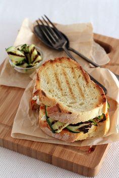 Homemade bread, to make such a sandwich.
