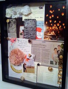 cutest alternative to scrapbooking! Frame it! so you will actually look at it.